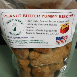 Peanut Butter Yummy Dog Biscuits